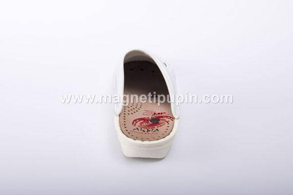 akma papuče - bele