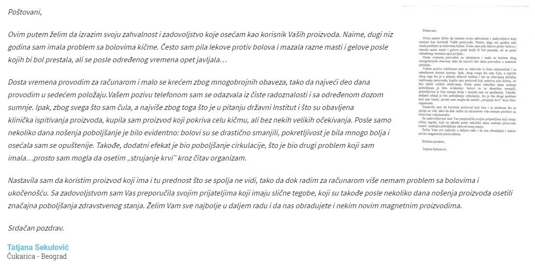Tatjana Sekulović komentar